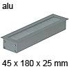 Kabeldurchlass Exit NC Aluminium-Optik 45 x 180 mm Exit NC 45 x 180 x 25 mm Alu / alu