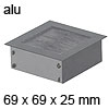 Kabeldurchlass Exit NC Aluminium-Optik 69 x 69 mm Exit NC 69 x 69 x 25 mm Alu / alu