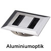 Kabeldurchlass Rectangular, Ø 80 mm - Kantenmaß 90 x 90 mm - Aluminiumoptik