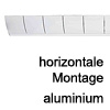 Kabelführung Flap - zur horizontalen Montage Aluminium - RAL 9009
