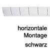 Kabelführung Flap - zur horizontalen Montage Schwarz