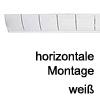 Kabelführung Flap - zur horizontalen Montage Weiss - RAL 9003