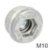 KEA M10 mit integriertem Federsystem Einschraubmuffe M10-Gewinde
