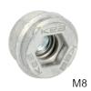 KEA M8 mit integriertem Federsystem Einschraubmuffe M8-Gewinde