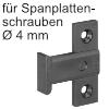 Flächenteil Keku EHS für Spanplattenschrauben Montage mit Hospa Senkkopf Ø 4 mm