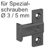 Flächenteil Keku EHS für Spezialschrauben Montage mit Varianta Senkkopf Ø 3 mm / 5 mm