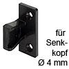 Plattenteil Keku AS zum Schrauben mit Senkkopf Ø 4 mm Plattenteil Keku AS Hospa 4 mm, schwarz