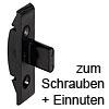 Rahmenteil Keku EH zum Einnuten + Schrauben mit Senkkopf Ø 4 mm Rahmenteil Keku EH schwarz Nut