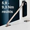 Bremsklappenhalter rechts, Drehmoment 5,9-9,3 Nm Klappenbeschl. re. - 10K - HDS10SKR