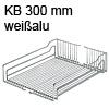 Einhängekorb alufarben für KB 300 mm Korb alu 250x467x110 mm