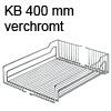 Einhängekorb verchromt für KB 400 mm Korb chrom 350x467x110 mm