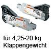 20L2700.05 AVENTOS Kraftspeicher HL 20L2700.05 Kraftsp.Set Av. HL / SD 4,25-20 kg
