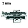 Kreuzmontageplatte Tiomos, 3 mm Distanz 1D-Kreuz-MPL, H 3 Schraub. - HV +/-2