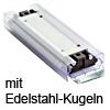 Laufwagen mit Edelstahl-Kugelpaket Accuride DS0116-CASSRC Wagen + Edelstahlkugeln