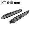 Kugelvollauszug zur seitlichen Montage Schubladenauszug für Schranktiefe 610 mm