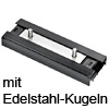 Laufwagen mit Edelstahl-Kugelpaket Accuride DS0115-CASSRC Wagen + Edelstahlkugeln