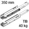 750.3501M Legrabox Korpusschiene für Tip-On Blumotion LBX Schienen TipOn Blum., 40 kg / NL 350 mm