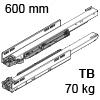 753.6001M Legrabox Korpusschiene für Tip-On Blumotion LBX Schienen TipOn Blum., 70 kg / NL 600 mm