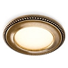 LED-Einbaustrahler Akoya Ø 80 mm, Gold antik AKOYA DOMUS Classic, gold / warmweiß