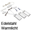 3er Set K-PAD LED Panel Edelstahl Warmlicht K-Pad ww / inox - 3x5W /24V