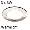 3er Set ATOM LED Spotlight nickel Warmlicht Atom ww / ni - 3x3W /24V