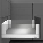 Legrabox free Frontauszug C Bausatz Länge/Tiefe 350 mm | seidenweiß | zum Schrauben