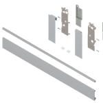 Legrabox Vorderstück Set für Innenlade, mit Zuschnitt M (90,5 mm) | seidenweiß | Breite 300-400 mm