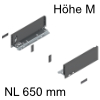 770M6502S Legrabox Zarge M (90,3 mm), oriongrau LBX Zarge pure M - 650 mm, OG-M