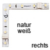 90°-Winkel FLEXYLED CR, natur weiß - rechts FlexyLED Ecke, 50x50mm (6 Leds) - natur / re.