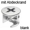 MINIFIX 12 Gehäuse ab 12 mm Dicke blank mit Abdeckrand Geh. Minifix 12R blank