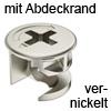 MINIFIX 12 Gehäuse ab 12 mm Dicke vernickelt mit Abdeckrand Geh. Minifix 12R nickel