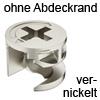 MINIFIX 12 Gehäuse ab 12 mm Dicke vernickelt ohne Abdeckrand Geh. Minifix 12 nickel