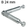 Minifix Gehrungsverbinder + Gelenk, B 24 mm Doppelbolzen Minifix verz. B 24