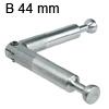 Minifix Gehrungsverbinder + Gelenk, B 44 mm Doppelbolzen Minifix verz. B 44