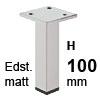 Möbelfüße Edelstahl gebürstet H 100 mm Edelst. Fuß matt 100 mm