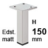 Möbelfüße Edelstahl gebürstet H 150 mm Edelst. Fuß matt 150 mm