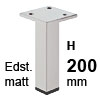 Möbelfüße Edelstahl gebürstet H 200 mm Edelst. Fuß matt 200 mm