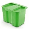 Abfallsammler für Biomüll 4,2 L grün bioBin + Deckel 227x165x170 mm, grün