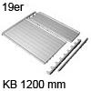 Deckelplatte Set für 19 mm Seiten B 1160 x T 470 mm 19er Deckelpl. mit Leisten KB 1200 mm hellgr.