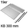 Deckelplatte Set für 19 mm Seiten B 260 x T 470 mm 19er Deckelpl. mit Leisten KB 300 mm hellgr.