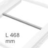 Ersatzsteg hellgrau für Hängerahmen, für NL 500 mm Mittelsteg Ninka 125 Rahmen, L 468 mm