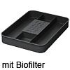Schale mit Biofilter ein2top für Abfalleimer 12 / 17 / 26 / 32 Liter Schale groß mit Filter