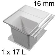 Mülleimer Set, KB 450 / NL 400 / H 310 mm 16er Seiten Abfalltrennsystem 450 / 400 - 16er - 17 L