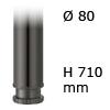 Tischfuß Rondella, Stahl - rund D=80 mm, H=710 mm schwarz - 710 mm - ø 80 mm