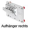 Aufhänger CAMAR 807 XL für flache u. tiefe Hängeschränke re. Aufhäng. 807 XL re.