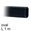 Schrankrohr Edelstahl schwarz, oval B 15 x H 30 x L 1000 mm Edelstahlrohr oval B 15 x H 30 - L 1 m