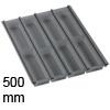 Besteckeinsatz cuisio für Schubladen, in 3 Farben cuisio - graphit-transluzent für 500 mm Schrankbreite