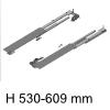 beidseitig ausziehbares Auszugssystem Möbeltiefe min. 530 mm Riverso Typ 530 / Tiefe 530-609 mm