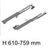beidseitig ausziehbares Auszugssystem Möbeltiefe min. 610 mm Riverso Typ 610 / Tiefe 610-759 mm