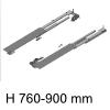 beidseitig ausziehbares Auszugssystem Möbeltiefe min. 760 mm Riverso Typ 760 / Tiefe 760-900 mm